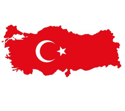 Turkish Flag Map Turkey پرچم ترکیه 400x356 دانلود سرود ملی ترکیه